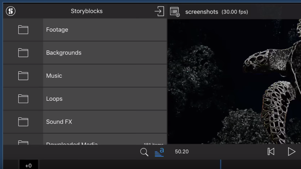 LumaFusion 1 7 - Now With Story Blocks Integration - Mobile