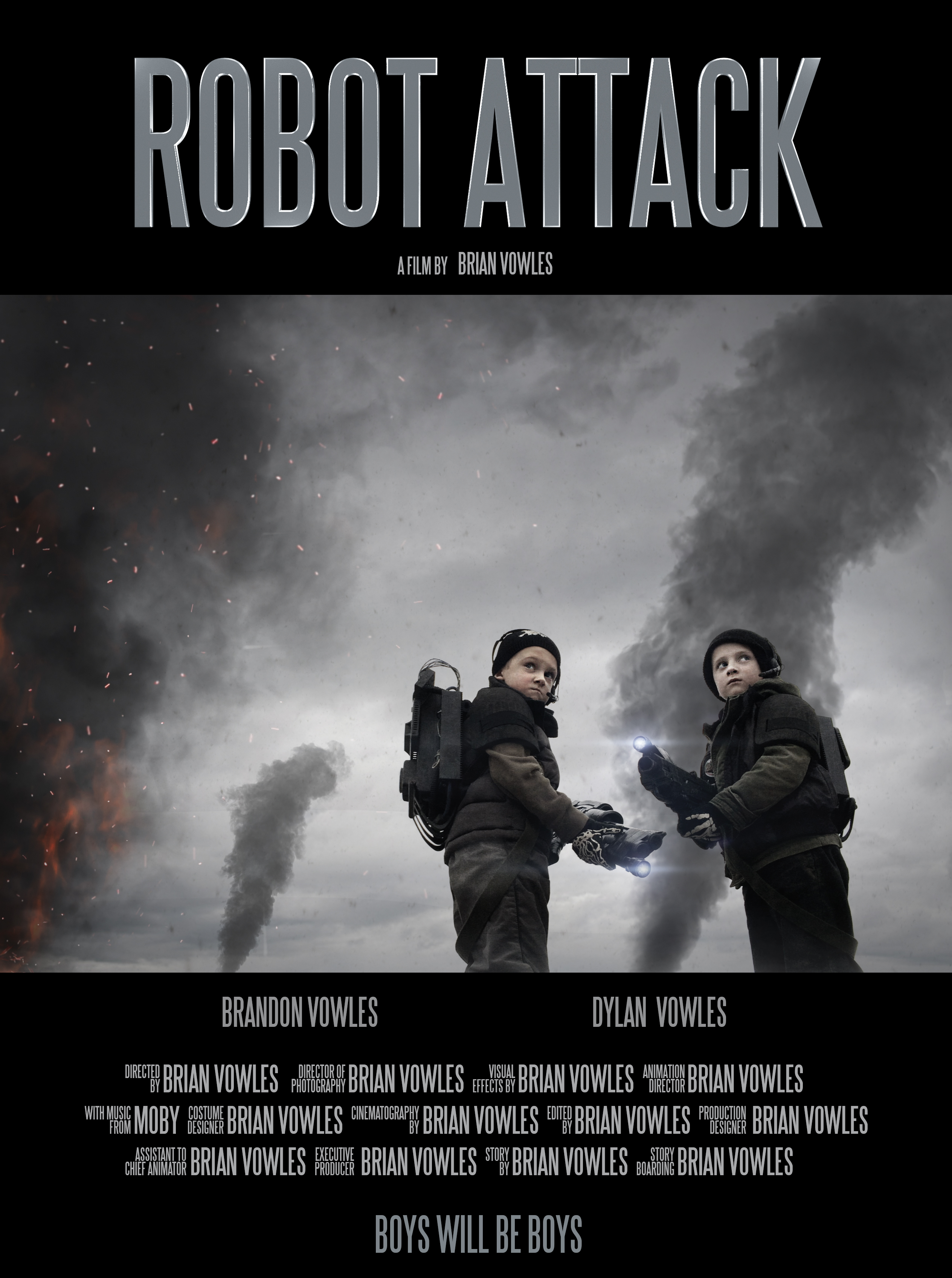 Father spent 4 years creating Robot Attack starring his kids